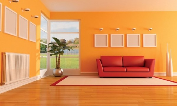 Tips for coloring your home beautifully interior Shades of orange paint for living room